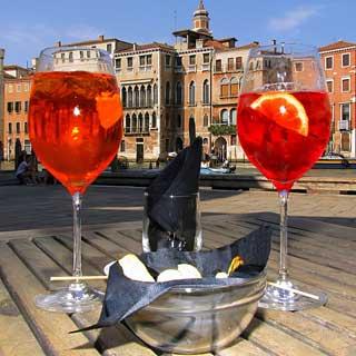 Campari spritz in Italy
