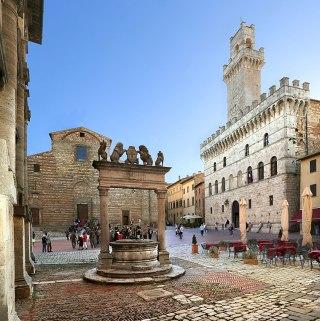 Main square in Montepulciano
