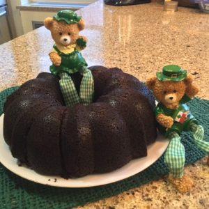 St. Patrick's Day Chocolate-Stout Cake