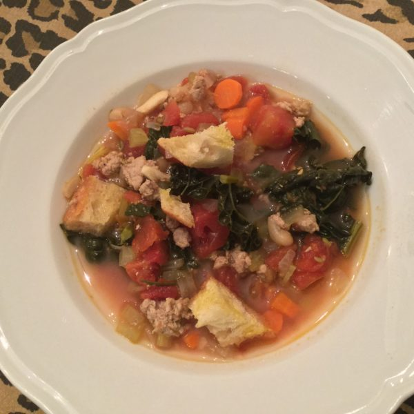 ribollita with Italian sausage soup