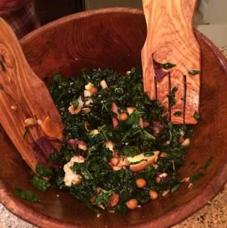 Kale and Chickpea Roasted Salad