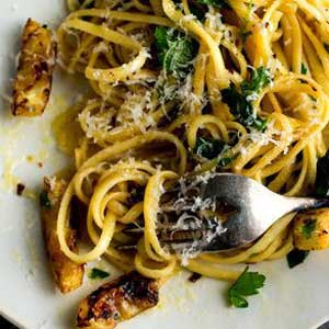 Pasta with lemon