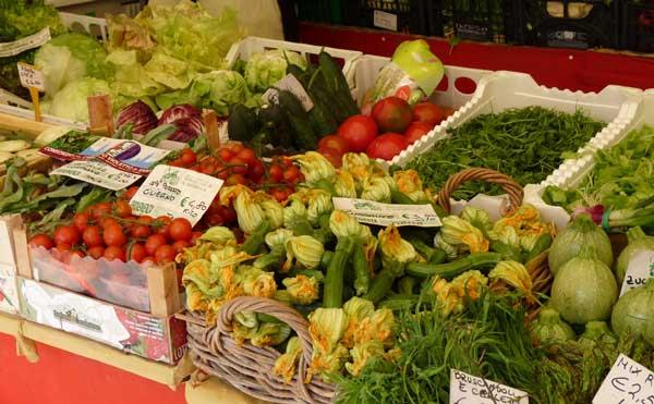 vegetables at Rialto market in Venice, Italy