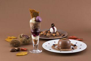 リンツ、モンブランがテーマの秋限定ショコラデザート新登場! 栗を使ったショコラパフェ、ドームショコラ、 ショコラクレープを9月3日から提供開始
