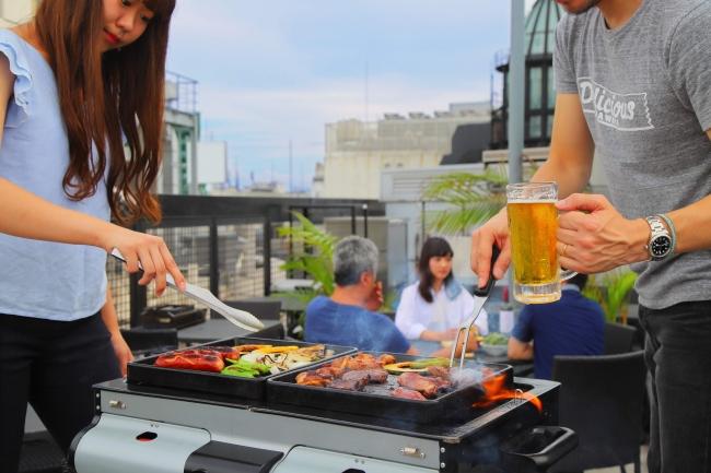 BBQは秋が本格シーズン! 渋谷のルーフトップテラスで秋刀魚など旬な食材を楽しみませんか?