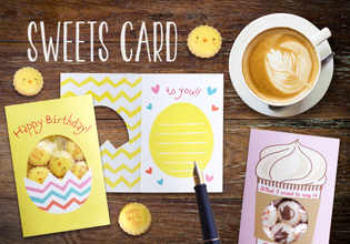お菓子とグリーティングカードが一体化した新アイテム 「スイーツカード」10月18日に新発売