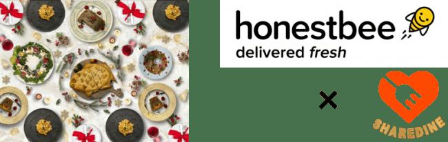 オネストビー × シェアダイン 初のコラボレーション企画~「買い物」と「料理」のW代行サービス~買い物いらずで家族が嬉しい「おうちクリスマス」を提案