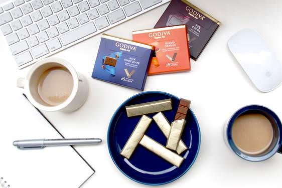 ゴディバから小分けの5本入りチョコレート新発売「ゴディバ ミルクチョコレート」 「ゴディバ 72%カカオ」「ゴディバ ブラッドオレンジ」