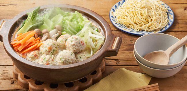 ▲「Kit Oisix 小倉優子のチーズ入りお野菜鶏団子白湯鍋」