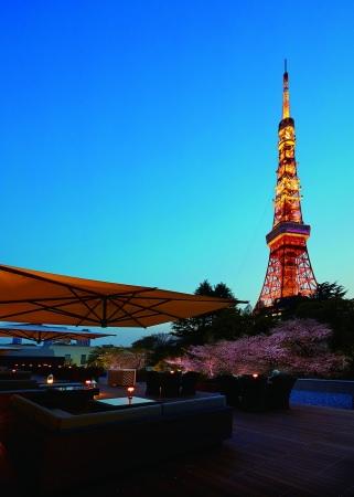 【東京プリンスホテル】夜桜、東京タワー、JAZZをテラスで楽しむ 大人のためのお花見イベントを開催