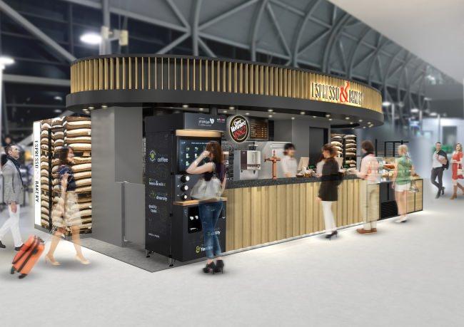 ヨーロッパのカフェを再現した「ESPRESSO&BAKERY(エスプレッソ&ベーカリー)」3月31日(日)関西国際空港に誕生
