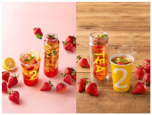 今が旬の福岡産「あまおう」をふんだんに使ったスペシャルメニューが登場!「Lipton TEA STAND」各店舗にて2019年3月31日(日)より数量限定で発売開始!