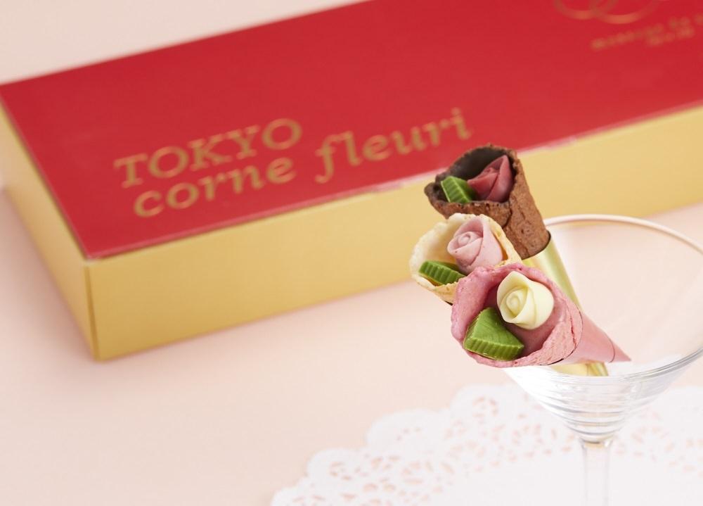 メサージュ・ド・ローズならではのキュートでポップな 笑顔を咲かせるチョコの花束『TOKYO コーン・フルーリ』 大丸東京店だけ・期間限定販売!