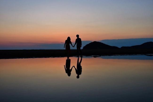 父母ヶ浜夕陽