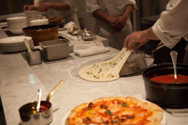 生地から作る「自家製パスタやピッツァは人気メニューです