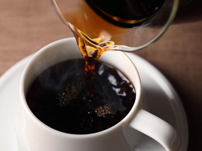 料理写真撮影イメージ「淹れたてホットコーヒー」