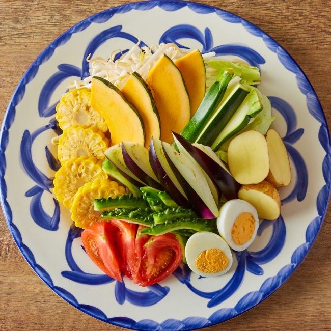 たっぷりの夏野菜をしゃぶしゃぶで