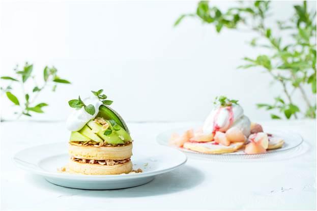 フレッシュな「メロン」と「白桃」を爽やかにアレンジしたパンケーキが登場!J.S. PANCAKE CAFE 夏のフェア 7月3日(水)よりスタート