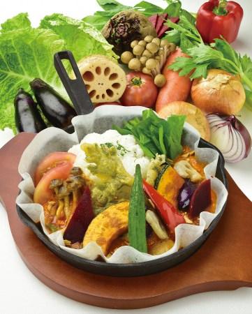 本格的なベジタリアンカレーの完成‼人気メニュー『野菜カレー』が動物系素材フリーでリニューアル‼