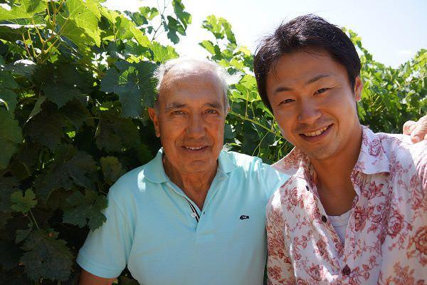 常田諭史inワイン畑