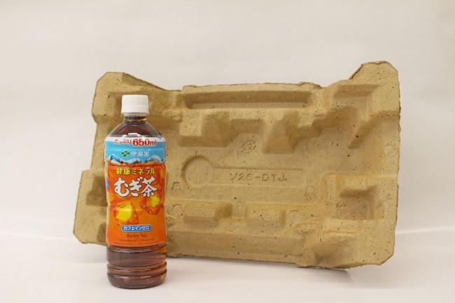 <むぎ茶殻のリサイクル技術> プラスチック製緩衝材の代替となる軽量・高強度の緩衝材を開発!