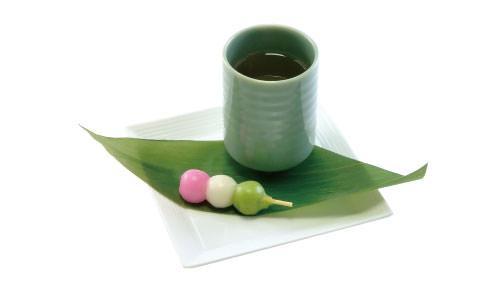 ほっと一息♪マブダチトリオの緑茶セット