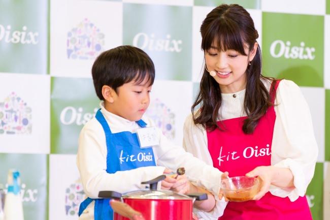 小倉優子監修『Kit Oisix』新メニュー審査会の様子