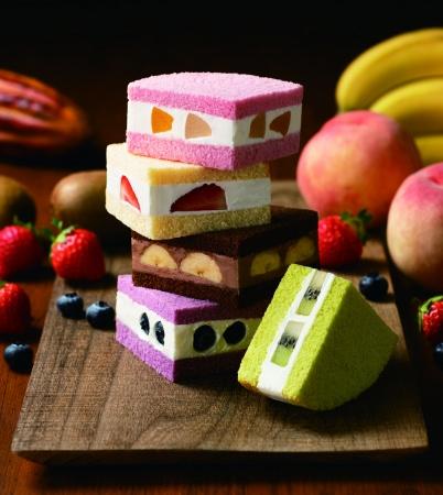 サンドイッチみたいなワンハンドスイーツ!銀座コージーコーナー、9月27日に新宿限定「カラフルフルーツサンド」5種を新発売。