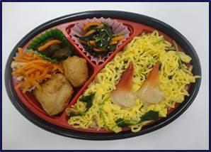 """相双地域の""""馴染みの味 """"ほっき飯のお弁当・いなりをお届けします 小高産技高と共同開発した 「ほっき飯ちらし弁当」「ほっき飯いなり」を販売"""