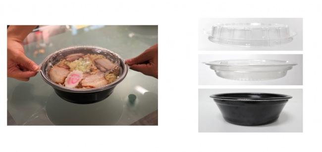 「出前館」と「エフピコ」が共同開発!麺類向けのデリバリー特化型容器、販売開始!