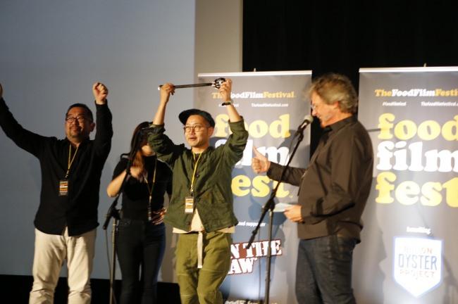 今年開催した「The Food Film Festival NY」で、日本出品作品が監督賞「Food Filmmaker of the Year Award」を受賞