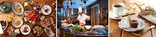 美食と音楽で満たされる 水辺のホテルに訪れるクリスマス 「蟹とローストビーフ&鴨のロースト」 クリスマス期間限定バイキング 2019年12月21日(土)より レストラン「グランカフェ」にて