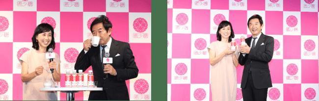 【イベントレポート】石田純一さん、東尾理子さんにバースデーケーキでサプライズ!「健康で笑顔が絶えない日々を送りたい」機能性表示食品「レアシュガースウィート」リニューアル記念イベント