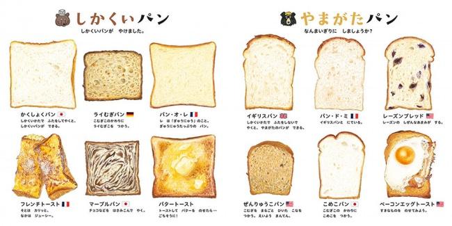 『パンのずかん』本文より (C)大森裕子/白泉社