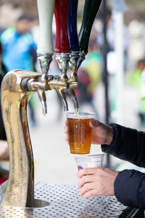 元祖地ビール「サンクトガーレン」の樽生ビールもハッピーアワー中なら500円で楽しめます
