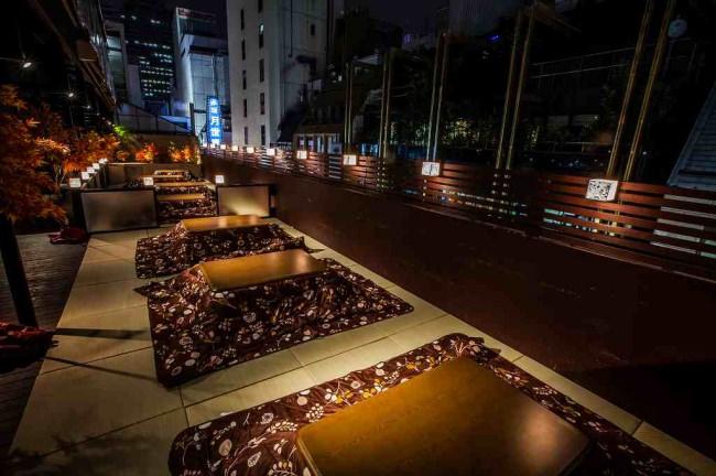 冬の鉄板「こたつ鍋」はテラス席でアクティビティに楽しむのがおススメ!<バネバグース赤坂見附店>