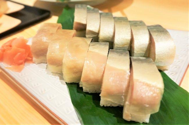 ▲400年の歴史を持つ「伊豫又」の鯖寿司