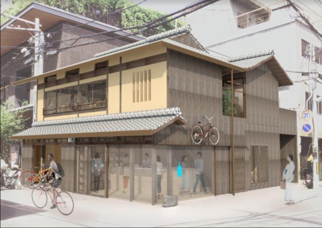 ブルーボトルコーヒー 京都六角カフェ パース