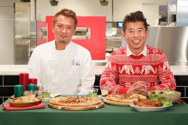 冬季限定メニュー発売記念イベントレポート/勝俣州和さんがピザ作りに初挑戦&冬季限定ピザを試食し「気の合う仲間たちと過ごすのに最適な贅沢ピザ。」と絶賛!
