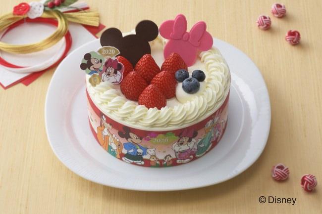 ミッキー&フレンズデザイン♪銀座コージーコーナー、12月30日に、2020年新春限定デコレーションケーキを発売。