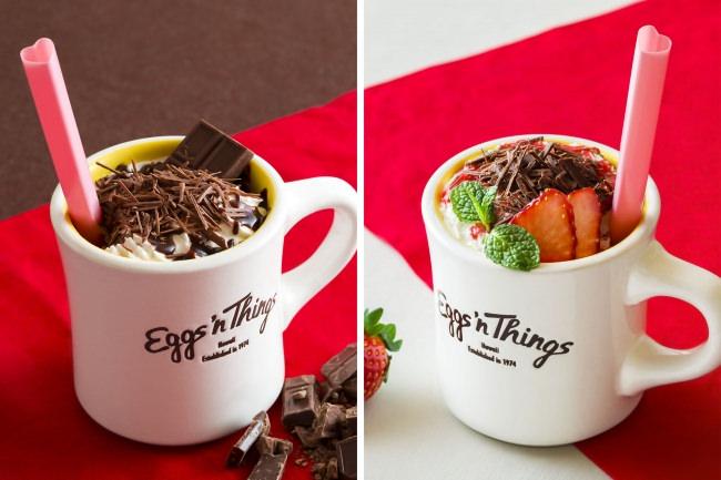Eggs 'n Thingsより、バレンタインにちなんだチョコレートドリンクが登場!「トリプルチョコレートモカ」「フレッシュストロベリーモカ」1月16日(木)~2月27日(木)期間限定販売