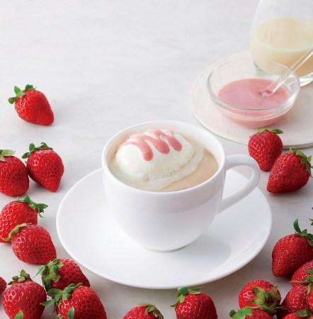 自家製苺ソースの甘酸っぱいミルク珈琲『苺ミルク珈琲』1月22日より発売。スパイス香る『カルダモンミルク紅茶』も同時発売。