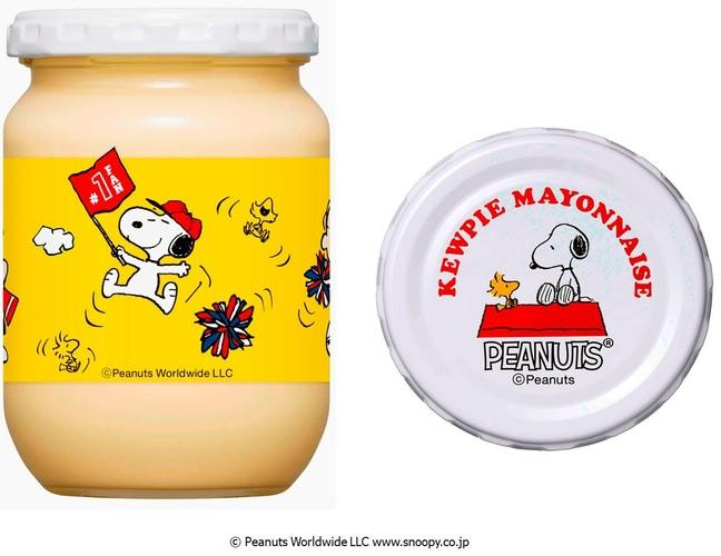 新たに「ピーナッツ」のキャラクターをデザインに採用。「キユーピー マヨネーズ・スヌーピー(瓶)」を新発売!!