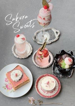 超絶アートな喫茶店、道後白鷺珈琲の春を彩る桜メニュー