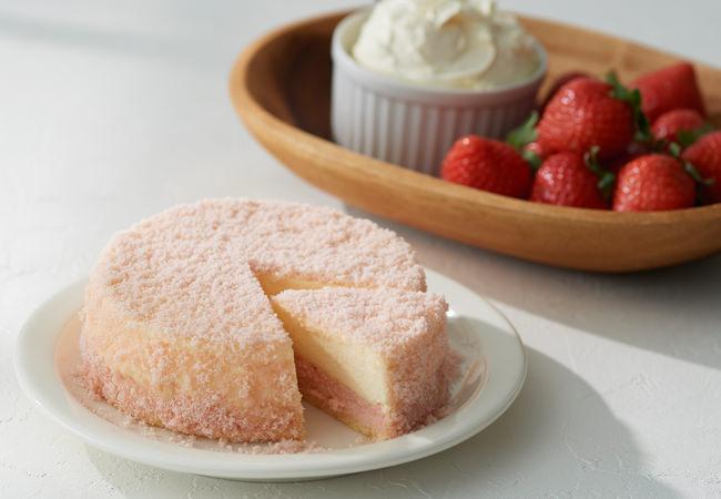 【ルタオ】人気No.1のドゥーブルフロマージュが、季節限定で苺味に。香り豊かな『北海道苺のドゥーブル』が、通信販売に登場!