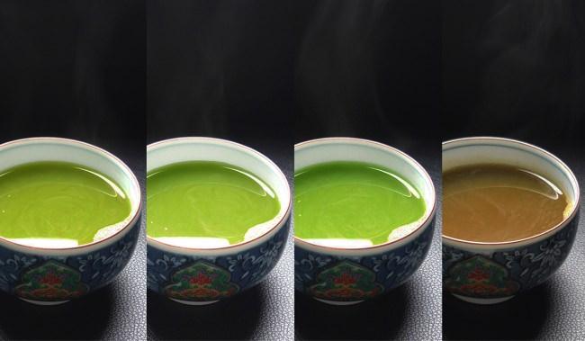 味わいは「深蒸し茶」「ほうじ茶」「玄米茶」「紅ふうき緑茶」の4種類