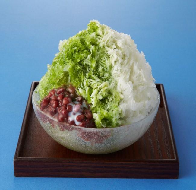 袋布向春園お抹茶&北海道あずき 850円(+税)
