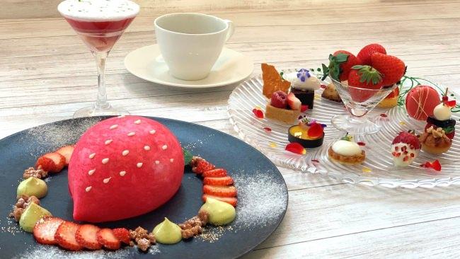 【グランドプリンスホテル広島】広島を「食」で応援・元気に!地産食材を使用した新しいスイーツブッフェスタイルを提案する「いちごスイーツコース」や広島食材を使用した和洋中折衷「ディナーコース」を販売