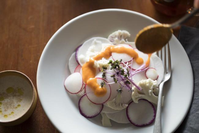 「有機パプリカのガスパチョ風味」の調理イメージ