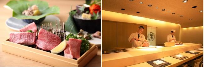 「肉割烹ふたご 北新地店」では、カウンター越しに五感で楽しめる肉割烹をお召し上がりいただけます